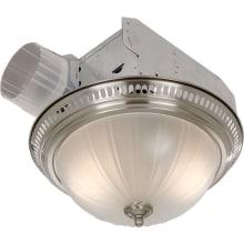 Decorative Fan, Light, 70 CFM, 3.5 Sones, Frosted Glass