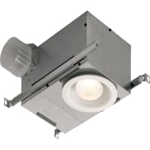 70 CFM 1.5 Sone Ceiling Mounted Energy Star Rated and HVI Certified Bath Fan with Light