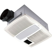 110 CFM 0.9 Sone Ceiling Mounted HVI Certified Bath Fan with Fluorescent Lighting and Night Light from the QT Collection