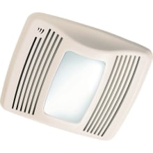 110 CFM 0.7 Sone Ceiling Mounted Energy Star Rated and HVI Certified Bath Fan with Humidity Sensor, Light and Night Light from the QT Collection