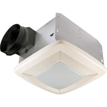 150 CFM 1.4 Sone Ceiling Mounted Energy Star Rated and HVI Certified Bath Fan with Light and Night Light from the QT Collection