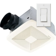 80 CFM 0.3 Sone Ceiling Mounted Energy Star Rated and HVI Certified Utility Fan with Wall Control from the QT Collection