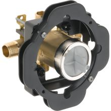Universal Mixing Rough-In Valve with Service Stops and Thin Wall Installation Aid