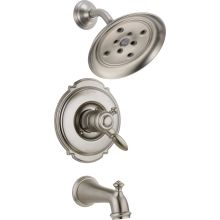 Victorian Monitor 17 Series Dual Function Pressure Balanced Tub and Shower Trim Package with H2Okinetic Shower Head and Integrated Volume Control - Less Rough-In Valve