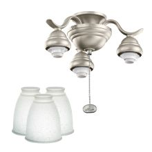 Kichler White Linen Curved Arm Light Kit