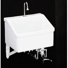 Hollister utility sink with single-hole faucet drilling