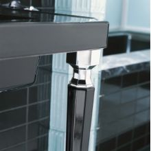 Kathryn Octagonal Fireclay Table Legs with Polished Chrome Trim