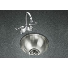 Single Basin Stainless Steel Bar Sink from the Undertone Series