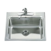 Ballad self-rimming utility sink with three-hole faucet punching and 12