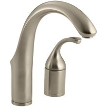 Single Handle Kitchen Faucet with Metal Lever Handle from the Forte Collection