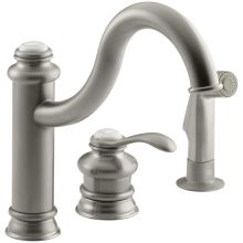 Single Handle Kitchen Faucet with Side Spray from the Fairfax Series