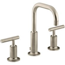 Purist Widespread Bathroom Faucet with Ultra-Glide Valve Technology - Free Metal Pop-Up Drain Assembly with purchase