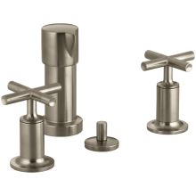 Purist Bidet Faucet with Vertical Spray and Cross Handles