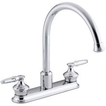 Double Handel Kitchen Faucet with Gooseneck Spout from the Coralais Series