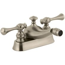 Revival Centerset Bidet Faucet with Traditional Lever Handles