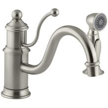 Single Handle Kitchen Faucet with Side Spray from the Antique Series
