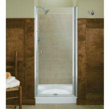 Fluence Frameless Pivot Shower Door with Crystal Clear Glass - 35