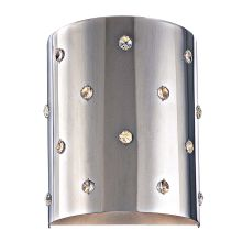1 Light ADA Compliant Flush Mount Wall Sconce from the Bling Bling Collection