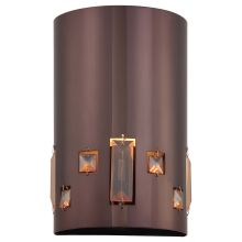 1 Light ADA Compliant Flush Mount Wall Sconce in Chocolate Chrome from the Bling Bang Collection