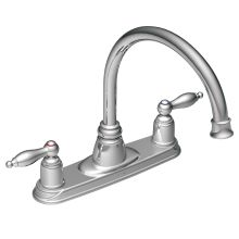 Double Handle Kitchen Faucet with Gooseneck Spout and Metal Lever Handlesfrom the Castleby Collection