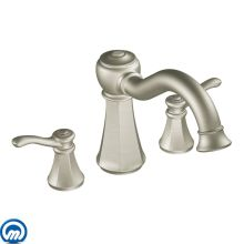 Deck Mounted Roman Tub Faucet Trim from the Vestige Collection (Less Valve)