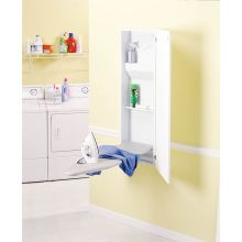 Built-In Non-Electric Ironing Center with Flat Panel Door from the Basic Collection