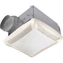 50 CFM 2.5 Sone Ceiling Mounted HVI Certified Bath Fan with Light