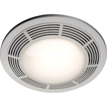 100 CFM 3.5 Sone Ceiling Mounted HVI Certified Bath Fan with Light and Night Light