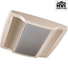 80 CFM 0.8 Sone Ceiling Mounted Energy Star Rated and HVI Certified Bath Fan with Light and Night Light from the QT Collection