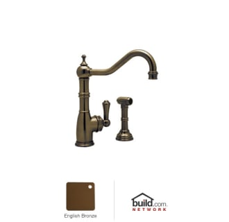 Rohl U4746-2 Solid Brass Single Handle Kitchen Faucet with Insulated Brass Side Spray from the Perrin and Rowe Series