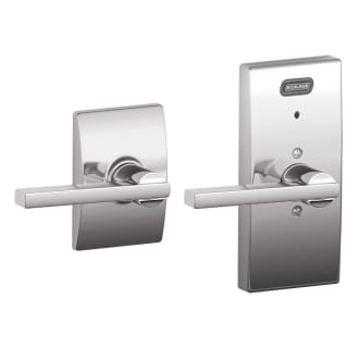 Schlage FE10-LAT-CEN Century Built-In Alarm Passage Door Lever Set with Latitude Lever