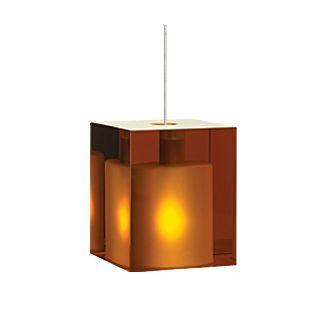 Tech Lighting Cube Pendant-Amber