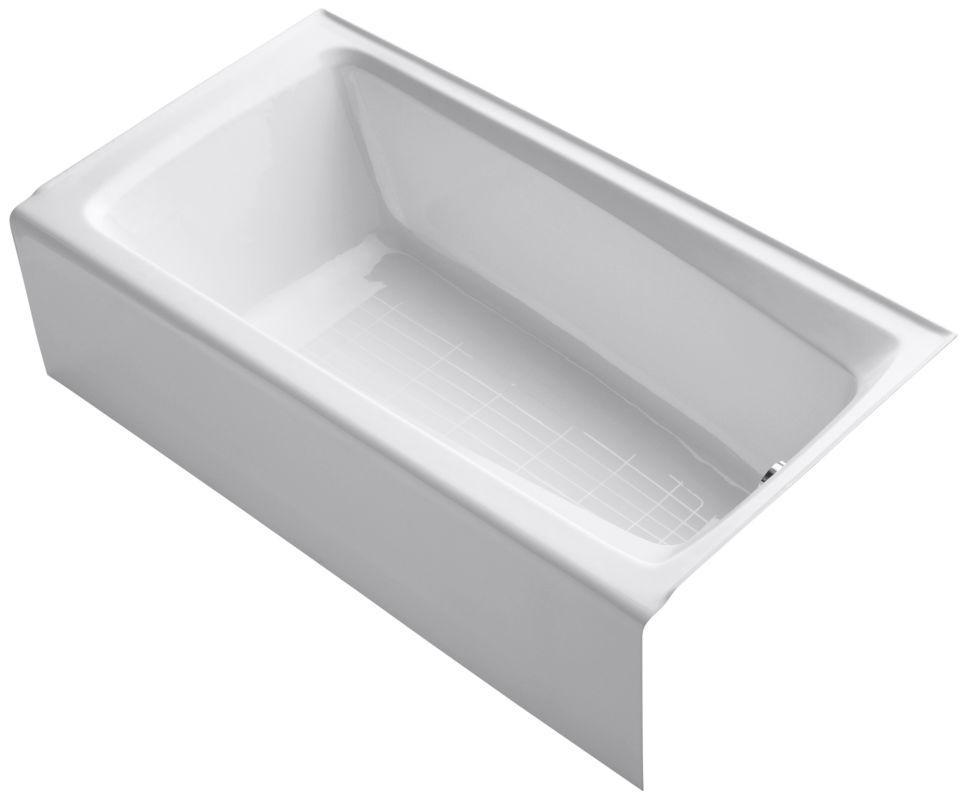 Kohler K 506 0 White Soaking Bathtub Build Com