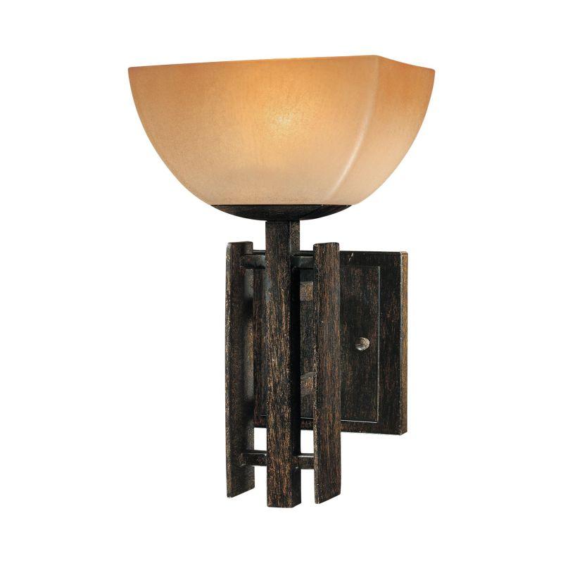 Mink Glass Wall Lights : Minka Lavery 6270-357 Iron Oxide Wall Light - Build.com