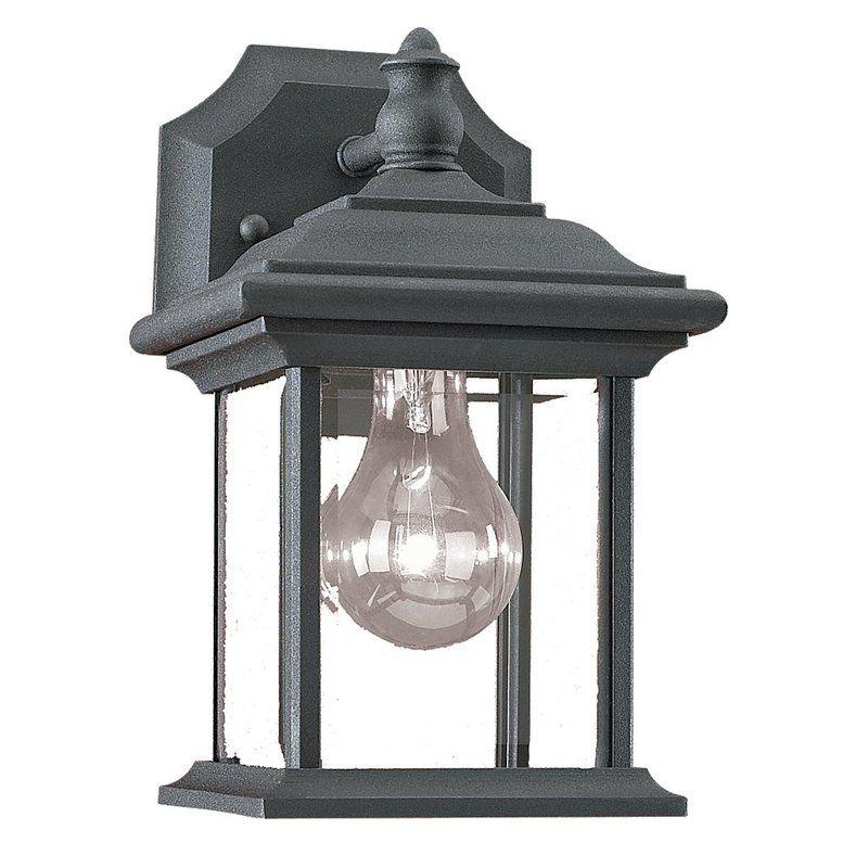 Sea Gull Lighting 85200-12 Black Outdoor Wall Light - Build.com