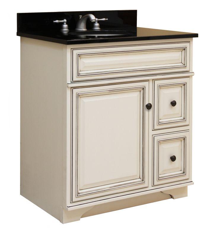 Sunny wood sl3021d glazed white for Sanibel white kitchen cabinets
