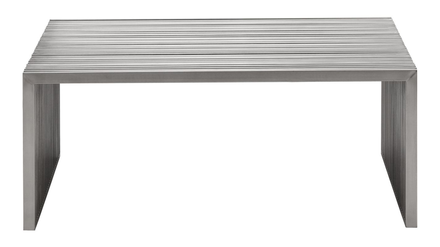 Zuo Modern 100084 Brushed Stainless Steel Build Com