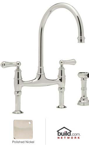 Rohl U4719L-2 Double Handle Bridge Kitchen Faucet from the Perrin & Rowe Series