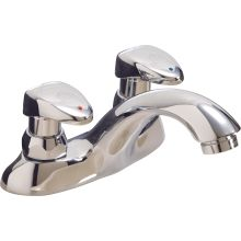 0.5GPM Double Tip Action Lever Handles 2 Hole Metering Bathroom Faucet from the Commercial Series