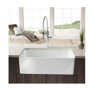 White Farmhouse Sink 30 Inch : White Cerana 30-inch Farmhouse Kitchen Sink Apron-Front Fireclay Sink ...