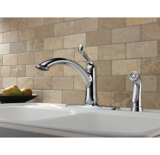 Delta-4453-DST-Installed Faucet in Chrome