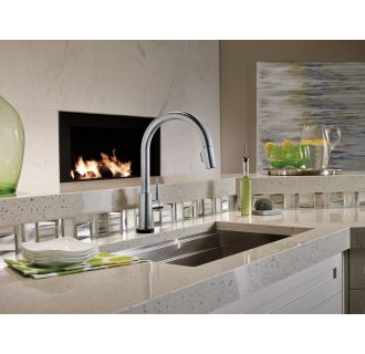 Delta-9159T-DST-Installed Faucet in Arctic Stainless