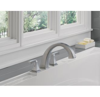 Delta-T2751-Installed Tub Filler in Brilliance Stainless