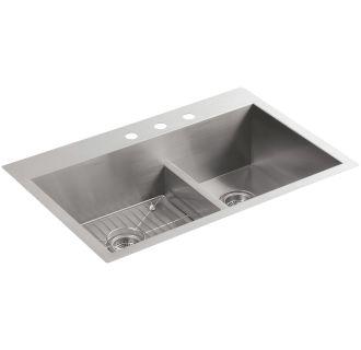 Kohler K 3839 3 Na Stainless Steel Vault 33 Quot Double Basin