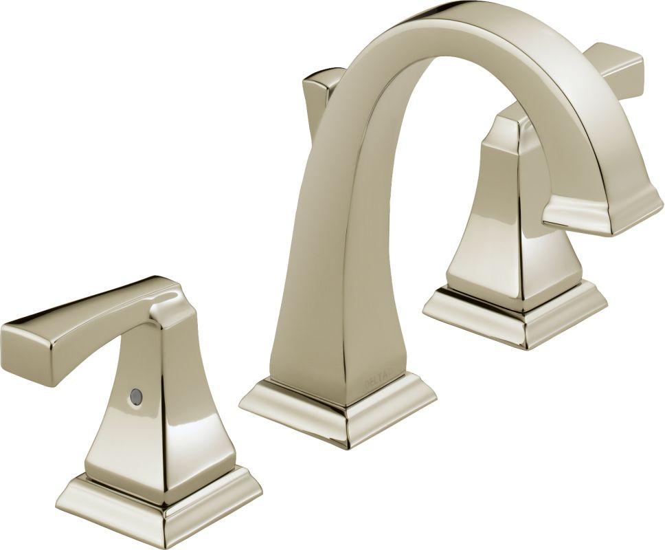 Bathroom Vessel Sink Chrome Brushed Nickel Oil Rubbed: Delta 3551LF-PN Brilliance Polished Nickel Dryden