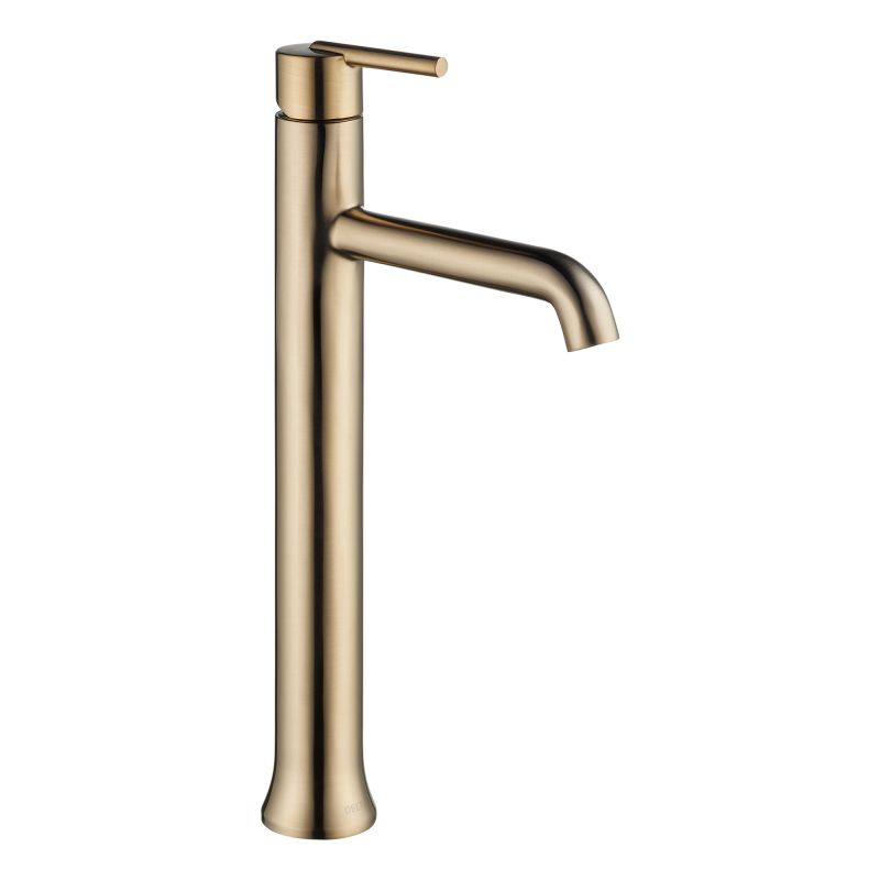 Delta 759 Cz Dst Champagne Bronze Trinsic Single Hole Vessel Bathroom Faucet Includes Lifetime