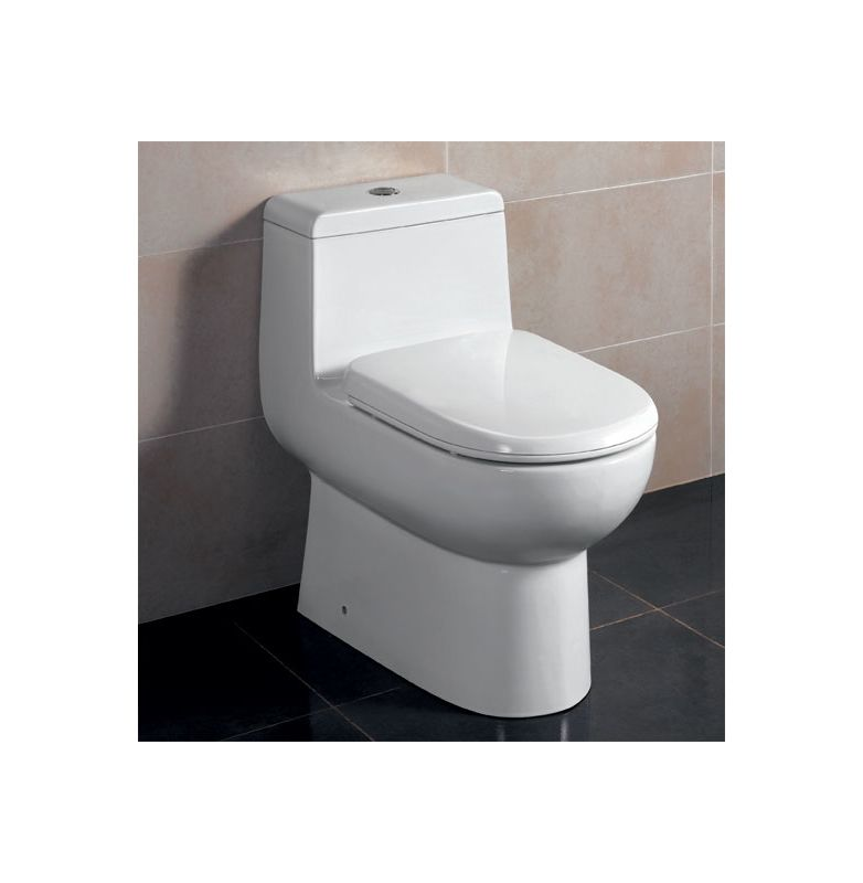 Eago Tb351 White Dual Flush Toilet One Piece Elongated