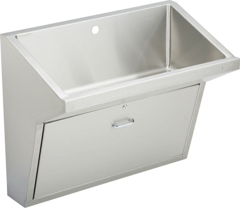 Stainless Steel Wall Mount Utility Sink : ... Faucet Hole 36