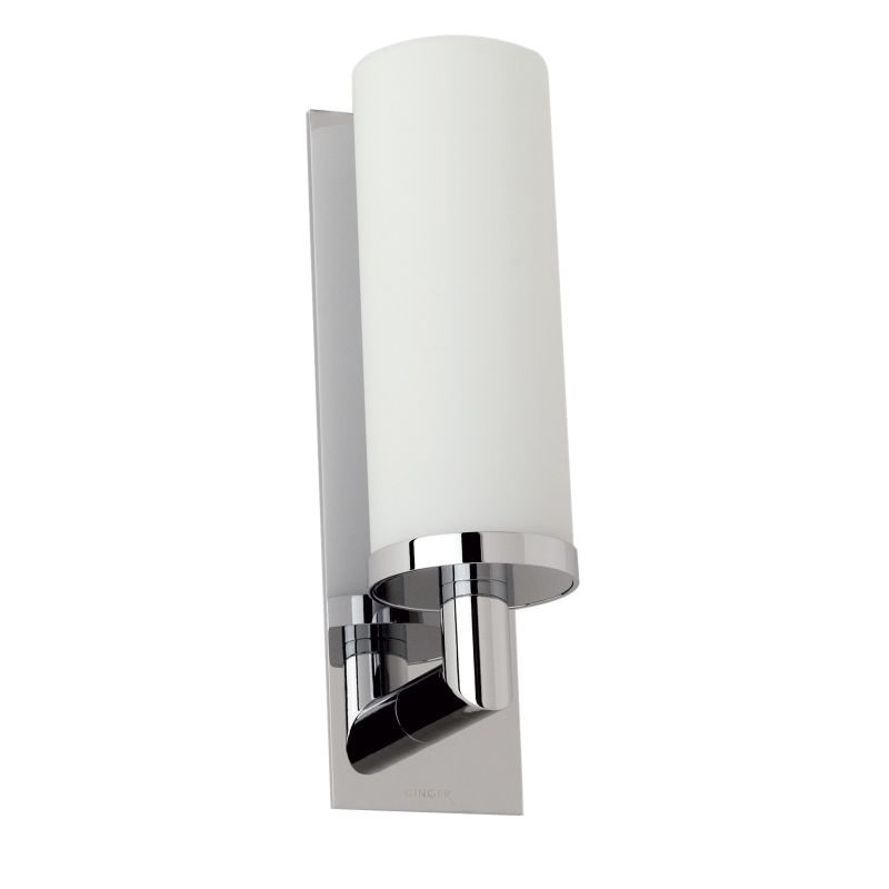 Wall Sconces In Chrome : Ginger 2881/PC Polished Chrome 1 Light Up Lighting Wall Sconce - FaucetDirect.com