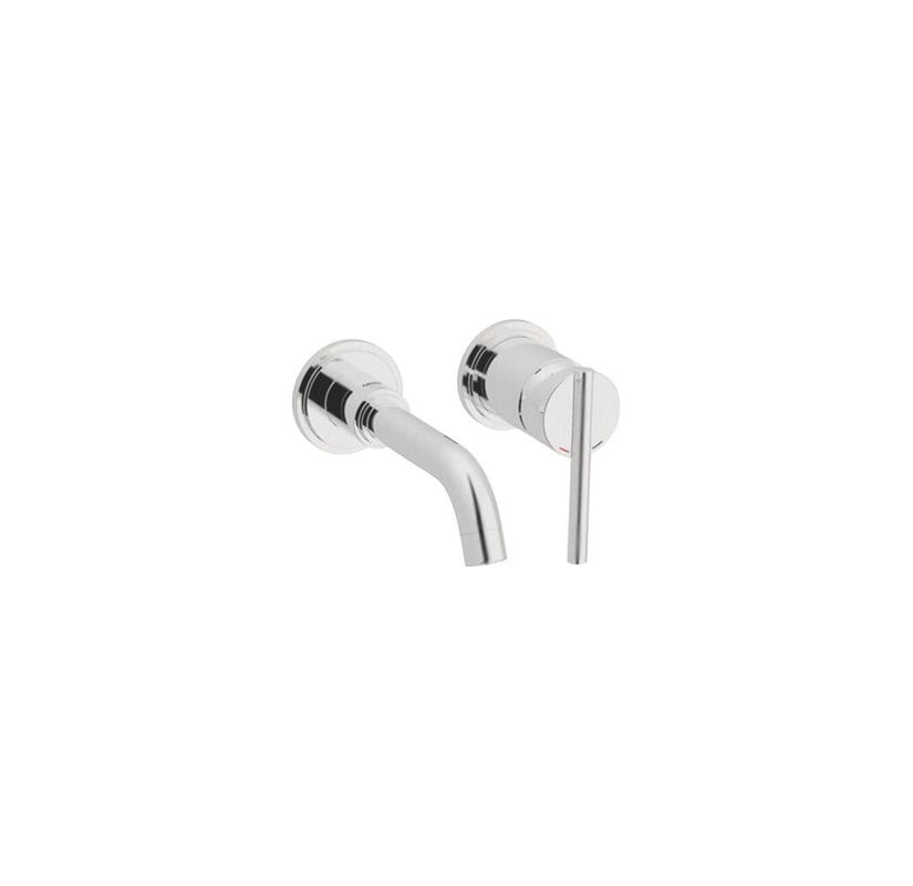 Grohe 19291en1 Brushed Nickel Atrio Wall Mounted Bathroom Faucet Less Drain Assembly